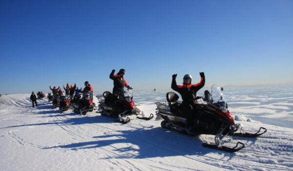 Experience the snowy woods and the frozen Gulf of Finland.